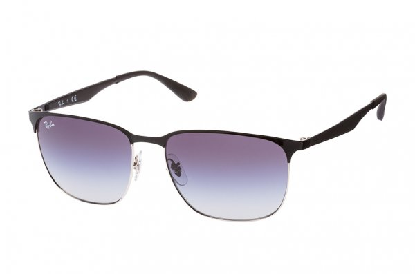 Очки Ray-Ban Active Lifestyle RB3569-9004-8G Black / Silver | Gradient Grey