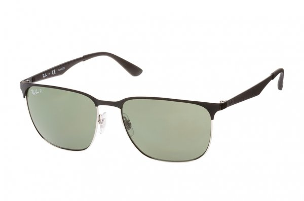 Очки Ray-Ban Active Lifestyle RB3569-9004-9A Black / Silver | Natural Green Polarized