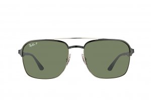 Очки Ray-Ban Active Lifestyle RB3570-9004-9A Black / Silver | Natural Green Polarized