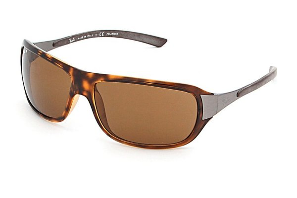 Очки Ray-Ban Active Lifestyle RB4120-710-57 Shiny Avana/Natural Brown Polarized