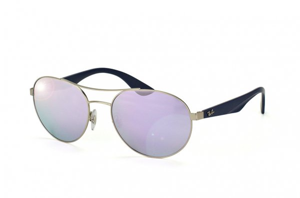 Очки Ray-Ban Active Lifestyle Round RB3536-019-4V Matt Silver | APX Light  Violet Mirror