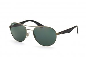Очки Ray-Ban Active Lifestyle Round RB3536-029-71 Matt Gunmetal | Grey/Green