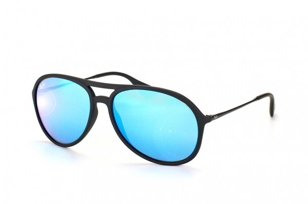 Очки Ray-Ban Alex RB4201-622-55 Rubber Black | APX Blue Mirror