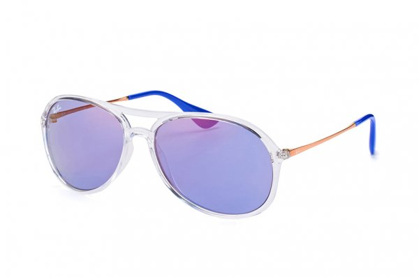 Очки Ray-Ban Alex RB4201-6294-D1 Transparent White | Cosmic Blue