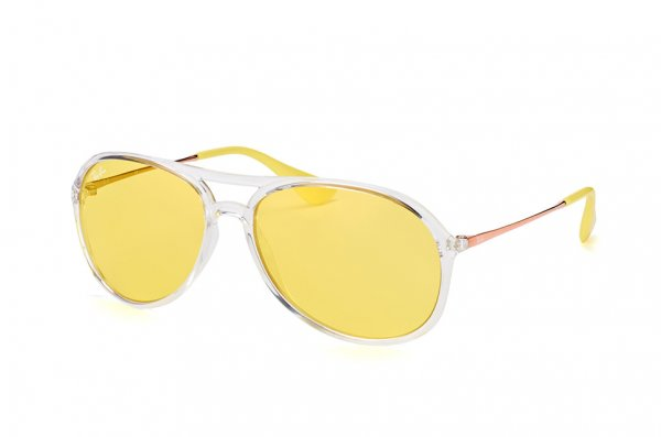 Очки Ray-Ban Alex RB4201-6295-C9 Transparent White | Yellow