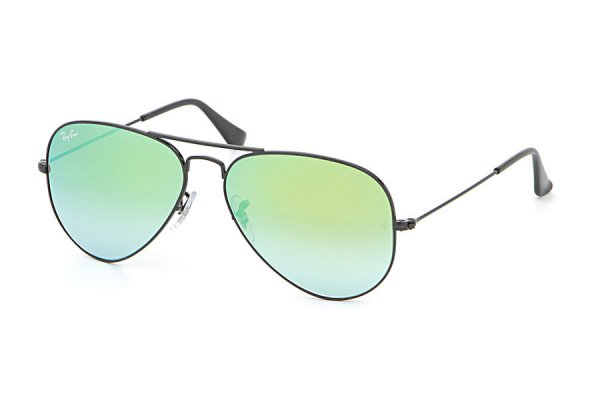 Очки Ray-Ban Aviator Flash Lenses RB3025-002-4J Black | Green Gradient Mirror