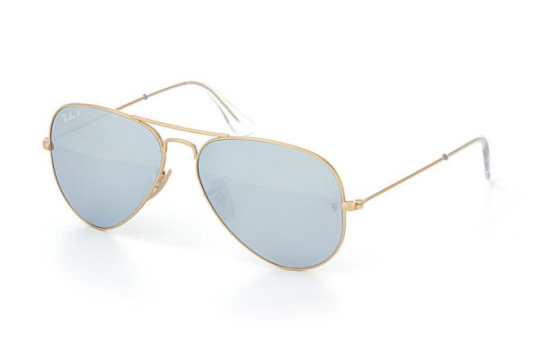 Очки Ray-Ban Aviator Flash Lenses RB3025-112-W3 Matte Gold | Blue Mirror Polarized