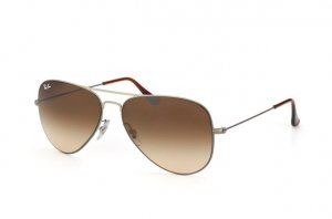 Очки Ray-Ban Aviator Flat Metal RB3513-147-13 Matt Grey | Poly. Brown Gradient
