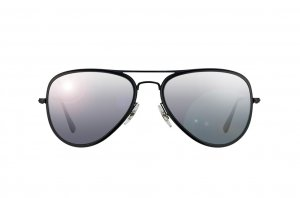 Очки Ray-Ban Aviator Flat Metal RB3513M-153-82 Matt Black | Poly. Polar Grey Polarized P3
