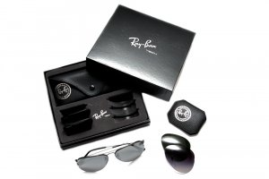 Очки Ray-Ban Aviator Flip Out RB3460-002-71 Black/Grey Green+Blue Gradient+Polar Gradient Grey