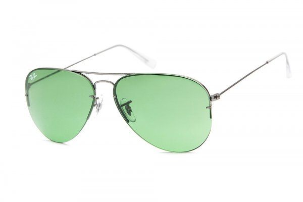 Очки Ray-Ban Aviator Flip Out RB3460-004-2 Gunmetal | Light Green