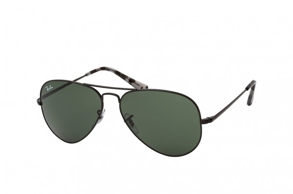 Очки Ray-Ban Aviator II RB3689-9148-31 Black | Natural Green