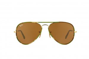 Очки Ray-Ban Aviator Large Metal Camouflage RB3025JM-169 Arista/ Camouflage |  Natural Brown (B-15XLT)