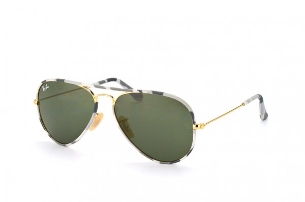 Очки Ray-Ban Aviator Large Metal Camouflage RB3025JM-171 Arista/ Camouflage |  Natural Green (G-15 XLT)