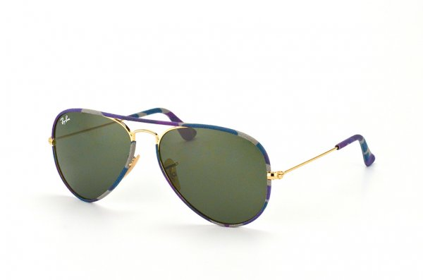 Очки Ray-Ban Aviator Large Metal Camouflage RB3025JM-172 Arista/ Camouflage |  Natural Green (G-15 XLT)