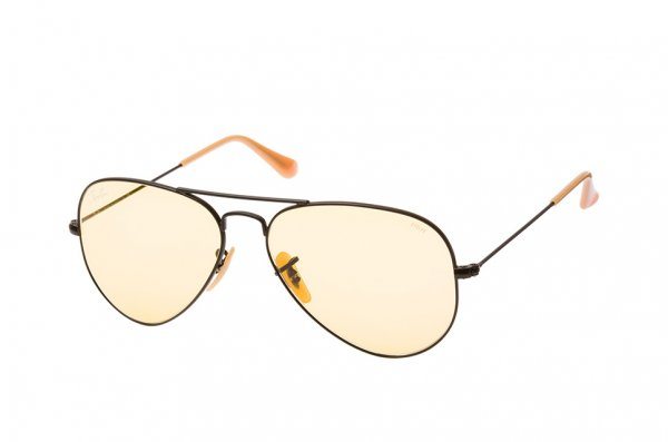 Очки Ray-Ban Aviator Large Metal Evolve RB3025-9066-4A Black | Yellow Photocromic