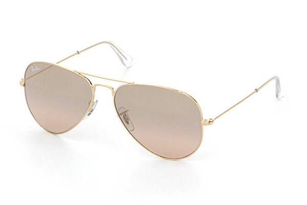 Очки Ray-Ban Aviator Large Metal RB3025-001-3E Arista/Pink Silver Mirror Gradient