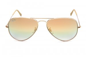 Очки Ray-Ban Aviator Large Metal RB3025-001-72 Arista | Green/Gold Mirror
