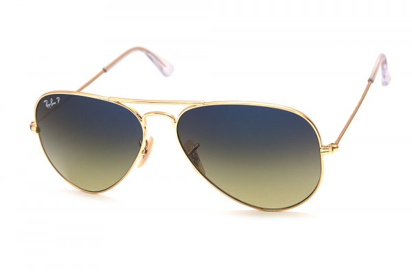 Очки Ray-Ban Aviator Large Metal RB3025-001-76 Arista | Gradient Blue/Green Polarized