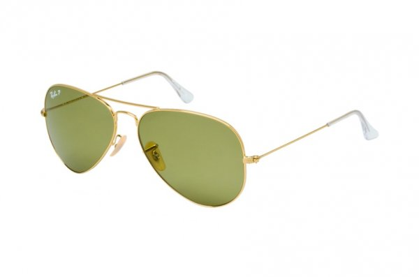 Очки Ray-Ban Aviator Large Metal RB3025-001-P1 Arista | Natural Green Polarized