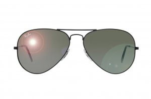 Очки Ray-Ban Aviator Large Metal RB3025-002-37 Black/Green Mirror