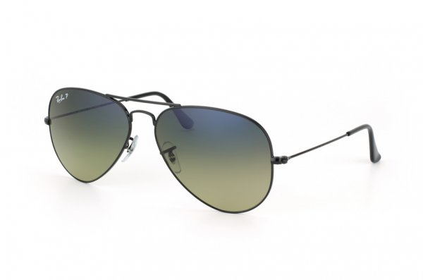 Очки Ray-Ban Aviator Large Metal RB3025-002-76 Black | Gradient Blue/Green Polarized