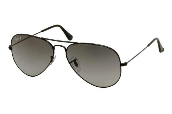 Очки Ray-Ban Aviator Large Metal RB3025-002-M3 Black | Polar Faded Grey