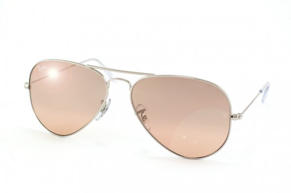 Очки Ray-Ban Aviator Large Metal RB3025-003-3E Silver/Pink Silver Gradient Mirror