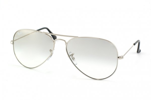 Очки Ray-Ban Aviator Large Metal RB3025-003-3G Silver/White GSM