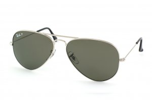 Очки Ray-Ban Aviator Large Metal RB3025-003-58 Silver | Natural Green Polarized