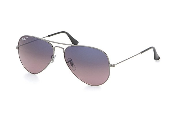 Очки Ray-Ban Aviator Large Metal RB3025-004-77 Gunmetal | Blue Gradient Pink Polarized