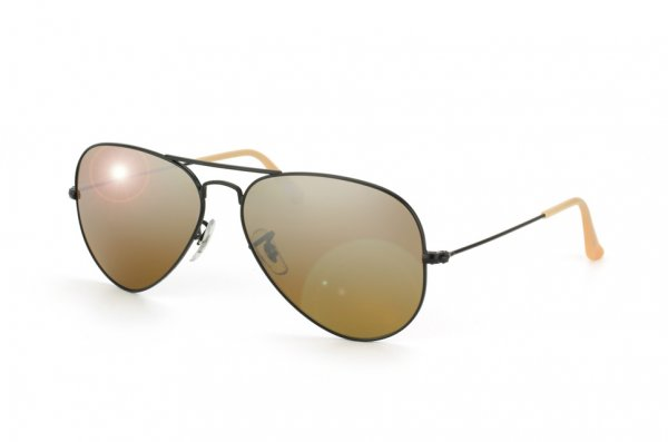 Очки Ray-Ban Aviator Large Metal RB3025-006-3K Matt Black | Brown Mirror Silver Faded