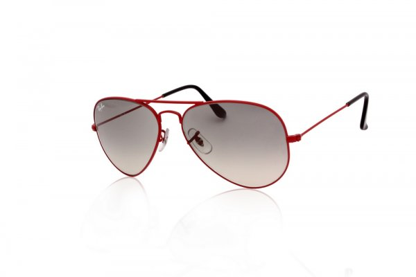 Очки Ray-Ban Aviator Large Metal RB3025-031-32 Dark red | Gradient Grey