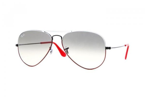 Очки Ray-Ban Aviator Large Metal RB3025-070-32 White /Black/ Red| Grey Gradient