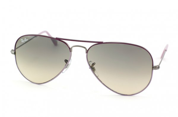 Очки Ray-Ban Aviator Large Metal RB3025-072-32 Gunmetal Bridge and Temple, Violet Frame Top, Lilac Frame Bottom/Gradient Grey