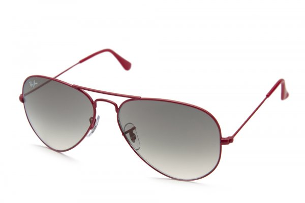 Очки Ray-Ban Aviator Large Metal RB3025-089-32 Metalic Matte Red/Gradient Grey