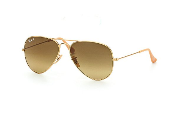 Очки Ray-Ban Aviator Large Metal RB3025-112-M2 Matte Gold | Brown Gradient Polarized
