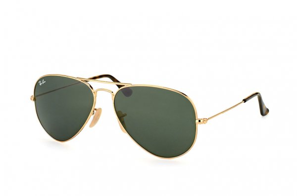 Очки Ray-Ban Aviator Large Metal RB3025-181 Arista/Нavana | Natural Green (G-15XLT)