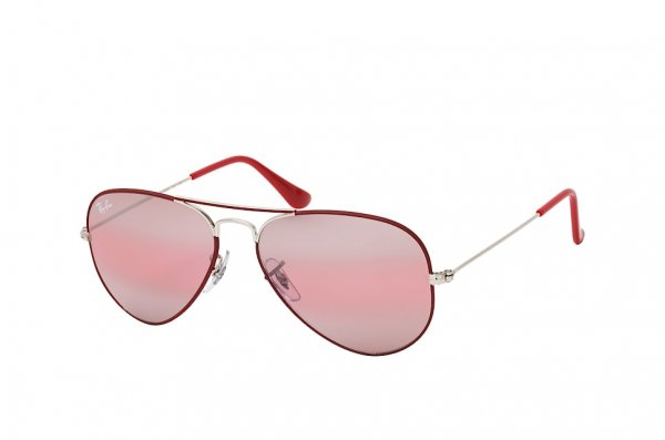 Очки Ray-Ban Aviator Large Metal RB3025-9155-AI Silver / Dark Red | Pink Photocromic Mirror