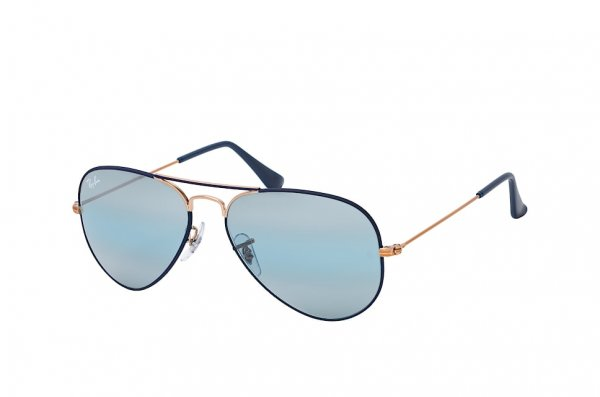Очки Ray-Ban Aviator Large Metal RB3025-9156-AJ Bronze / Dark Blue | Blue Mirror