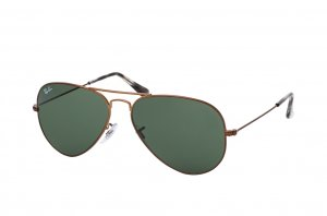 Очки Ray-Ban Aviator Large Metal RB3025-9189-31 Dark Bronze | Natural Green