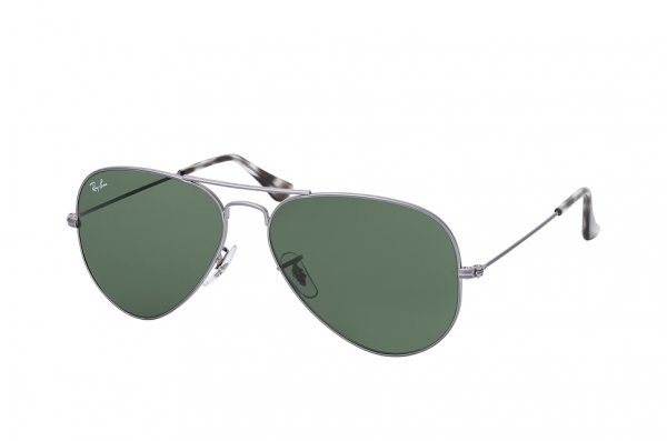 Очки Ray-Ban Aviator Large Metal RB3025-9190-31 Dark Silver | Natural Green