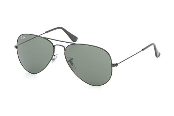 Очки Ray-Ban Aviator Large Metal RB3025-L2823 Black | Natural Green (G-15XLT)