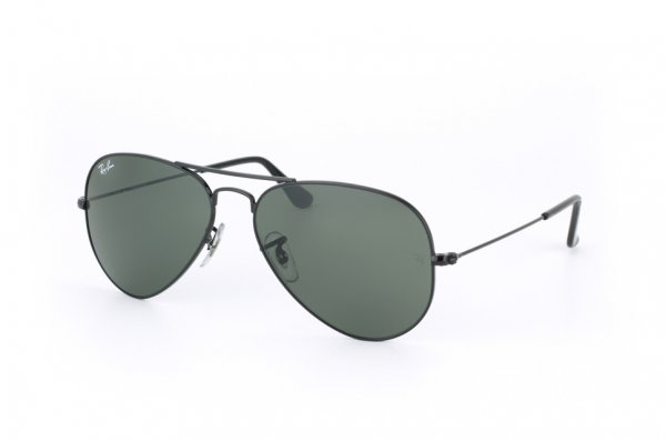 Очки Ray-Ban Aviator Large Metal RB3025-W3235 Black | Natural Green (G-15XLT)