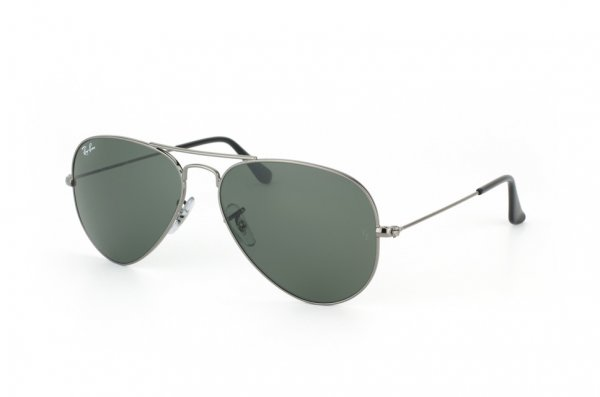 Очки Ray-Ban Aviator Large Metal RB3025-W3236 Gunmetal | Natural Green (G-15XLT)