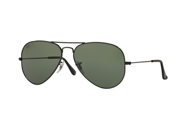 Очки Ray-Ban Aviator Large Metal RB3025-W3329 Black | Natural Green (G-15XLT)