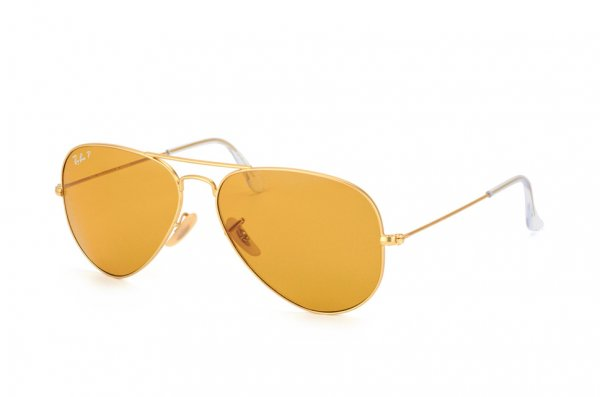 Очки Ray-Ban Aviator Large Metal Special Series RB3025-112-O6 Matte Gold | Orange Polarized