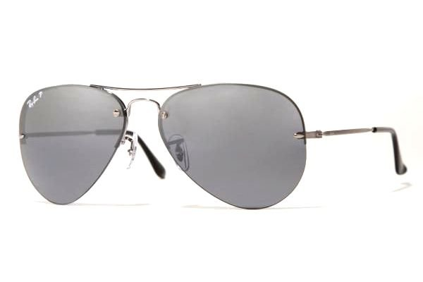 Очки Ray-Ban Aviator Light RB3214-004-82 Gunmetal | Polar Gray GSM Polarized P3