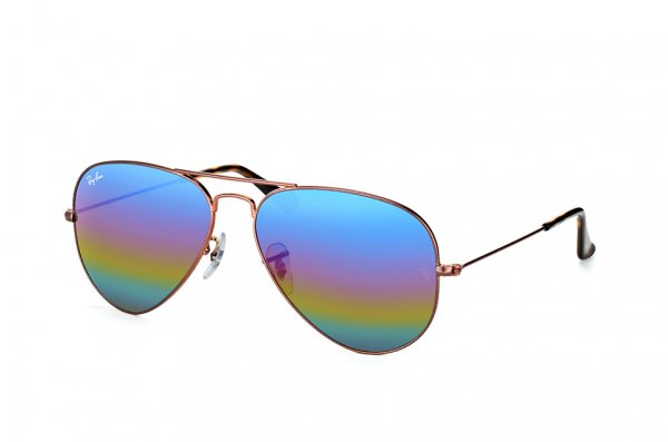 Очки Ray-Ban Aviator Mineral Flash Lenses RB3025-9019-C2 Bronze | Violet Rainbow Mirror