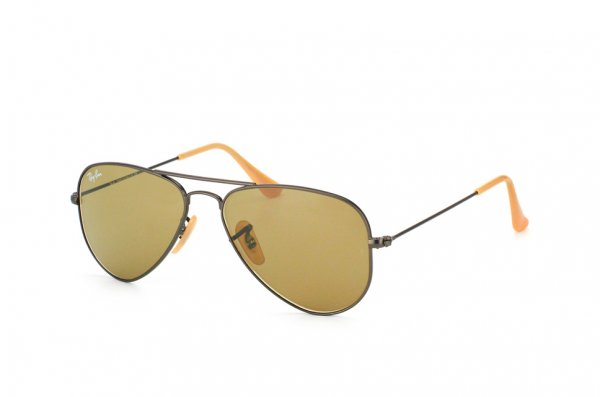 Очки Ray-Ban Aviator Small Metal RB3044-029-53 Matte Gunmetal | Light Brown